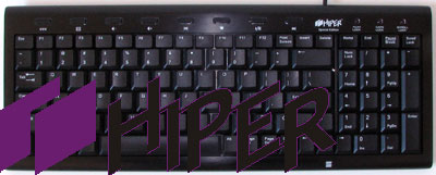 Hiper HCK-1K18A-US Black Alloy USB Keyboard