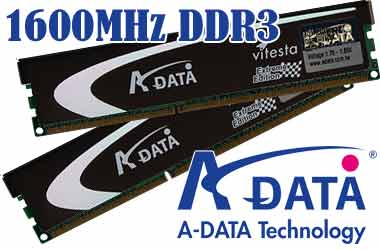 A-Data Vitesta 1600MHz DDR3 CL7-7-7-20 AD31600X002GU