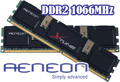 Aeneon Xtune PC2-8500 CL5 1066MHz DDR2 RAM Kit