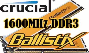 Crucial Ballistix PC3-12800 CL8 BL12864BA1608.8SFB DDR3 1600MHz 2x1GB RAM Kit