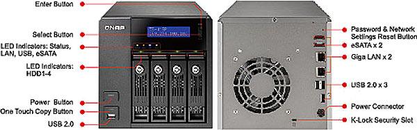 QNAP TS-419P Turbo NAS 4-Bay Network Storage Server | QNAP