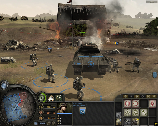 Company of Heroes with the GeForce 8800 GTS (Click for large image)